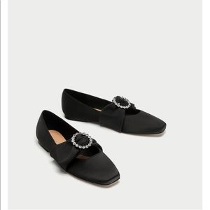 Ballerinas with jeweled buckle details, NWT